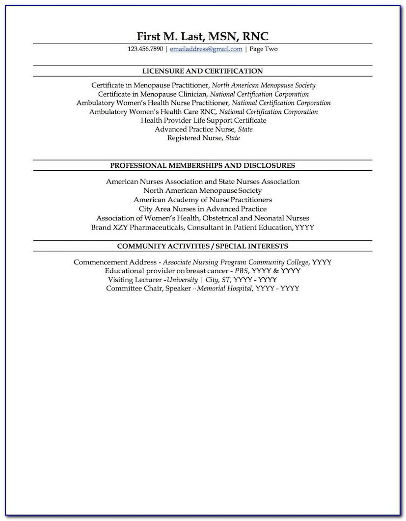 New Grad Nursing Resume Samples