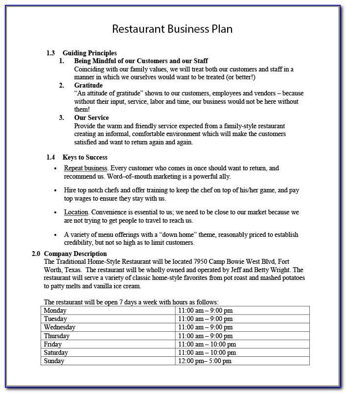 New Restaurant Business Proposal Template