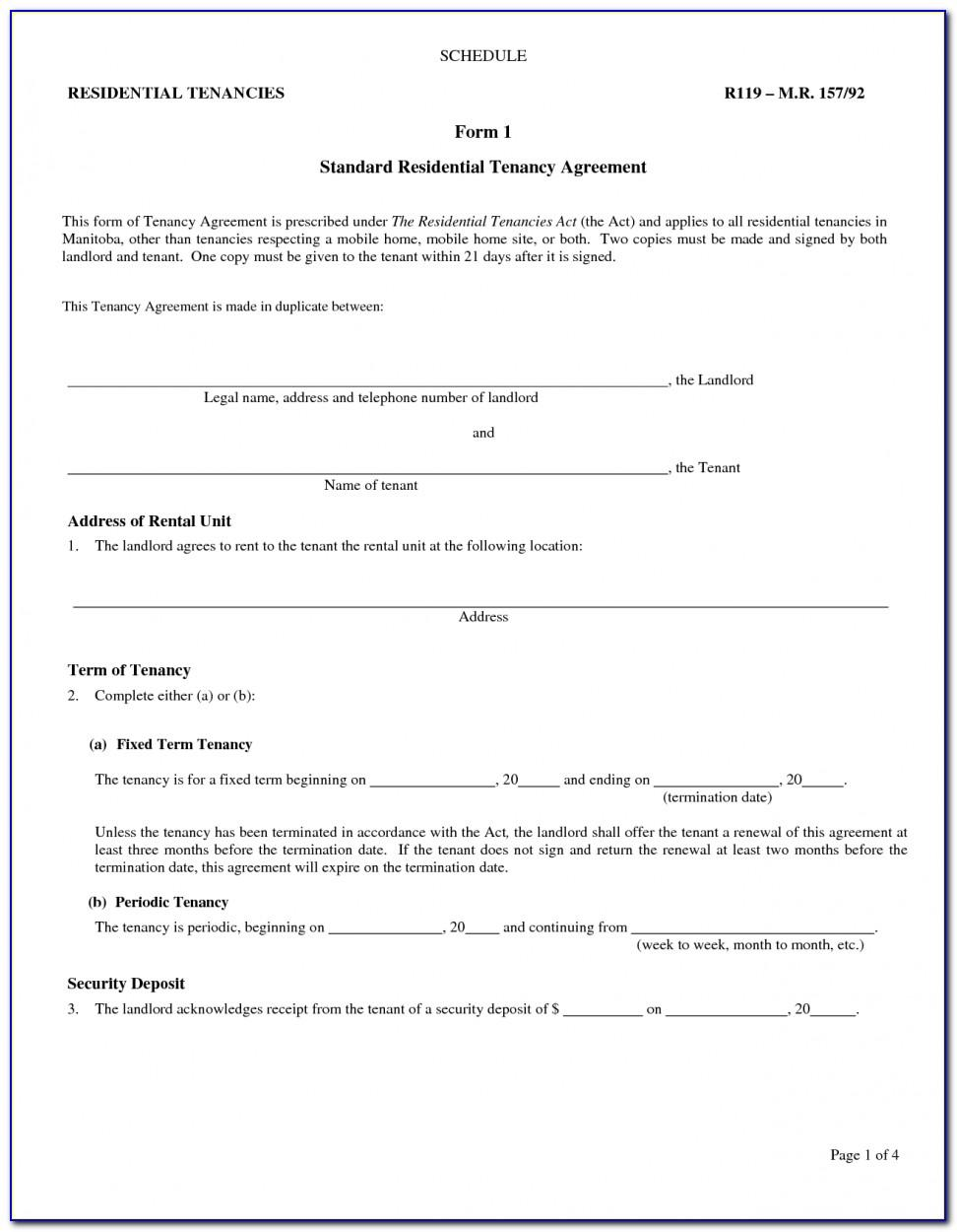 Nj Residential Lease Agreement Template