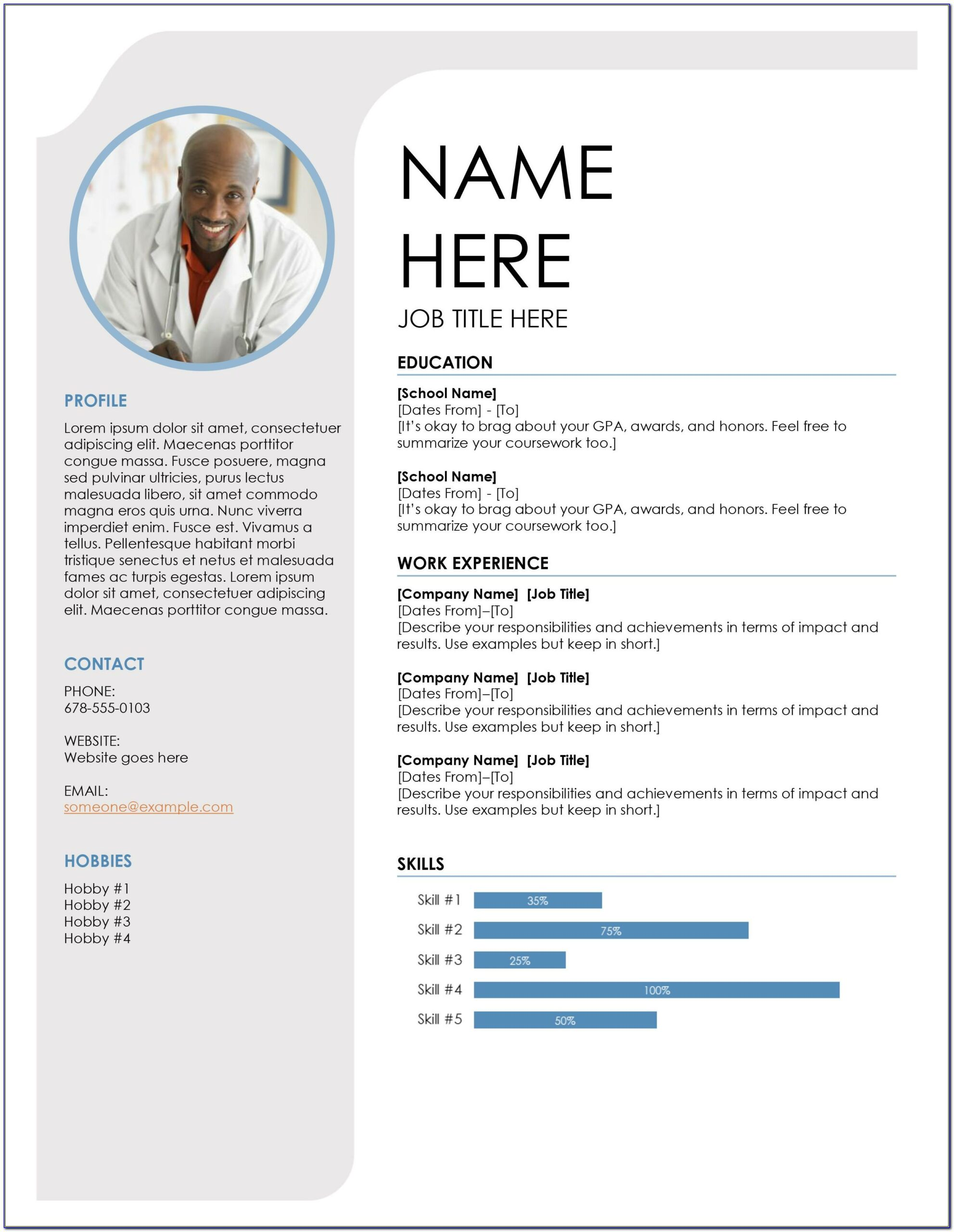 One Page Resume Format Pdf Free Download