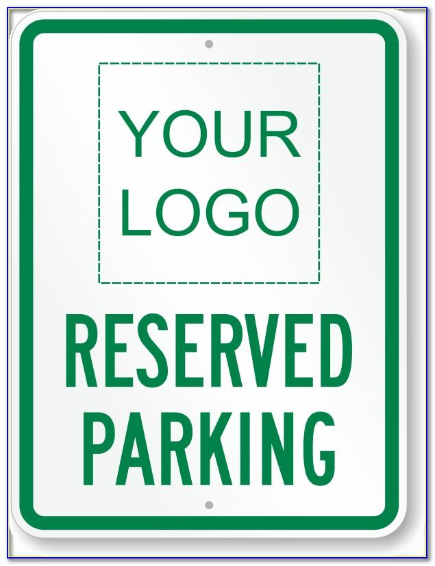 Printable Reserved Parking Sign Template