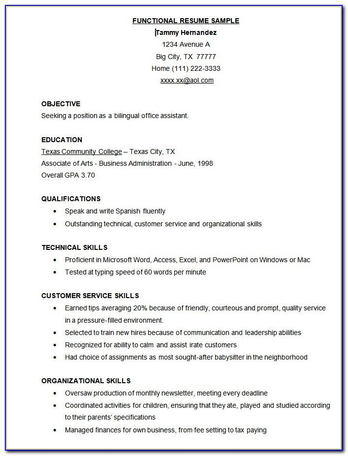 Professional Resume Template For Executive Assistant