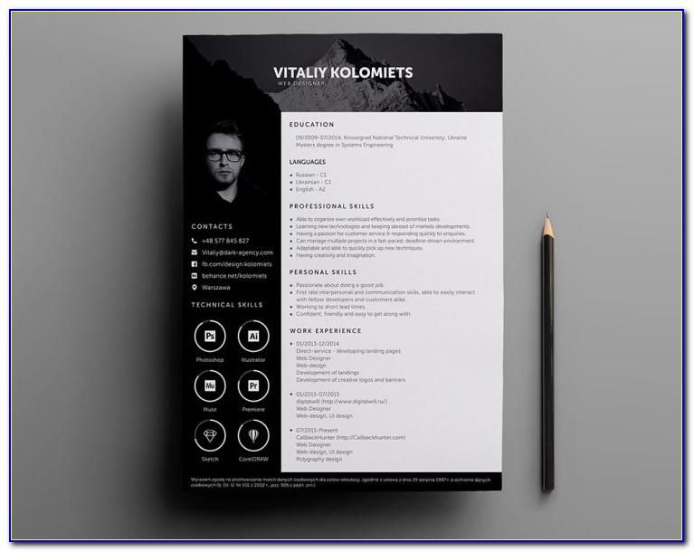 Professional Resume Template Psd Free Download