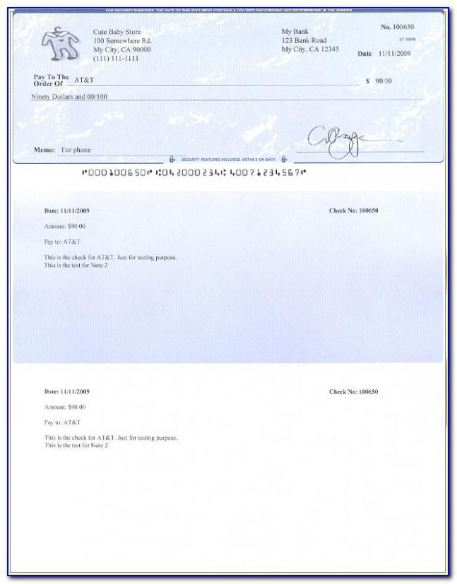 Quickbooks Bill Payment Stub Template