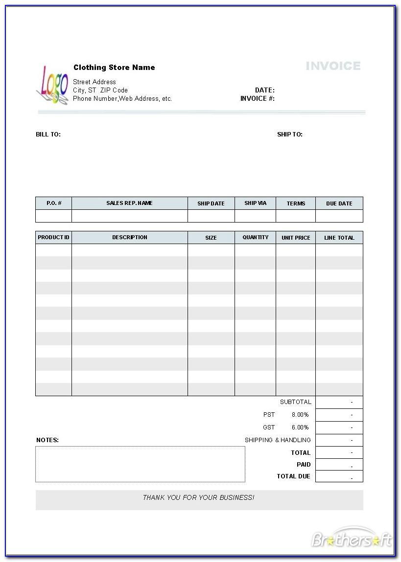 Quickbooks Invoice Templates Download Free