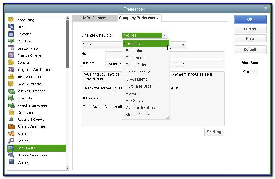Quickbooks Pro 2017 Invoice Templates