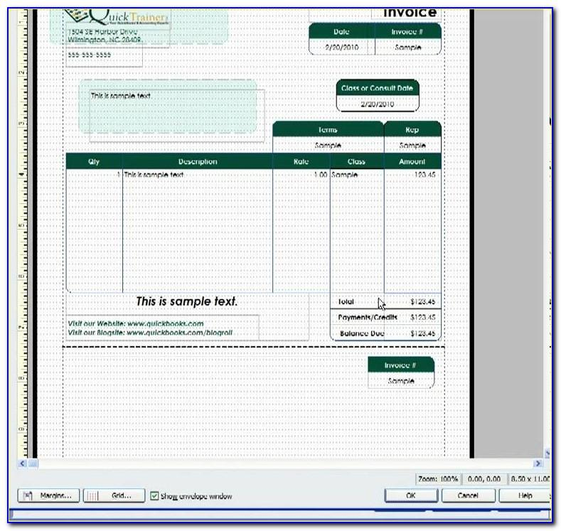 Quickbooks Pro 2019 Invoice Template