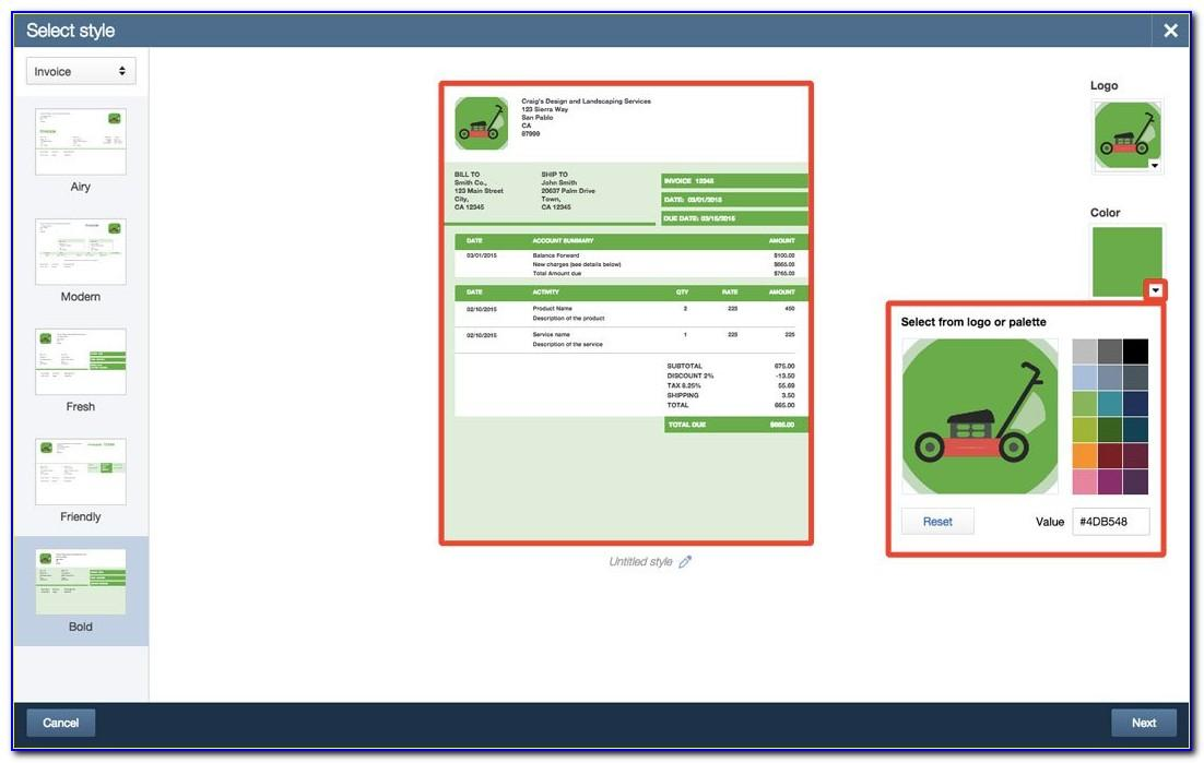 Quickbooks Pro Change Invoice Template