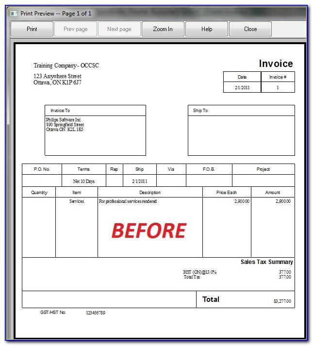 Quickbooks Pro Invoice Templates