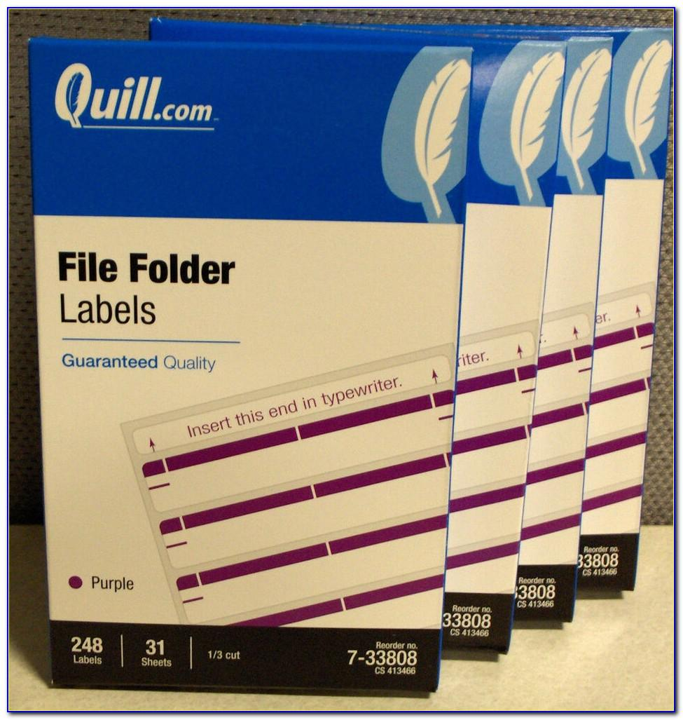 Quill File Folder Labels Template