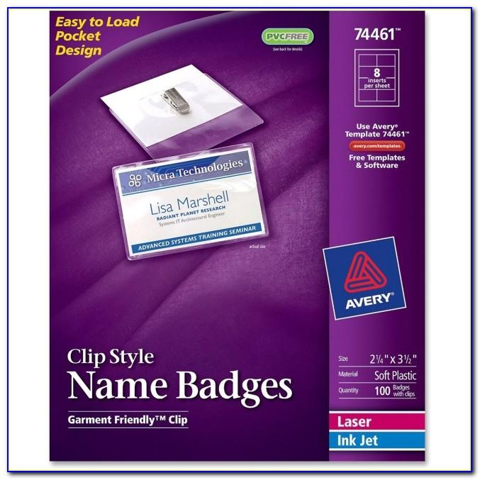 Quill Name Badge Labels Template