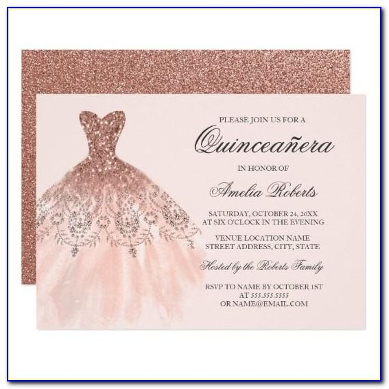 Quinceanera Invitation Templates Free