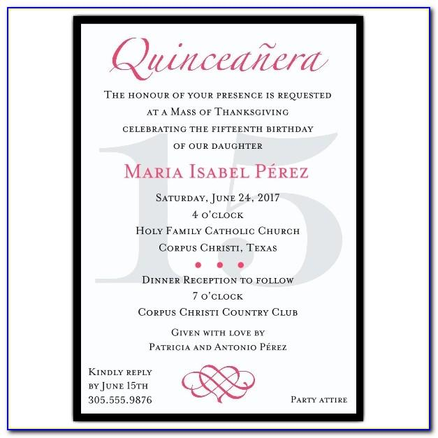 Quinceanera Program Templates Free