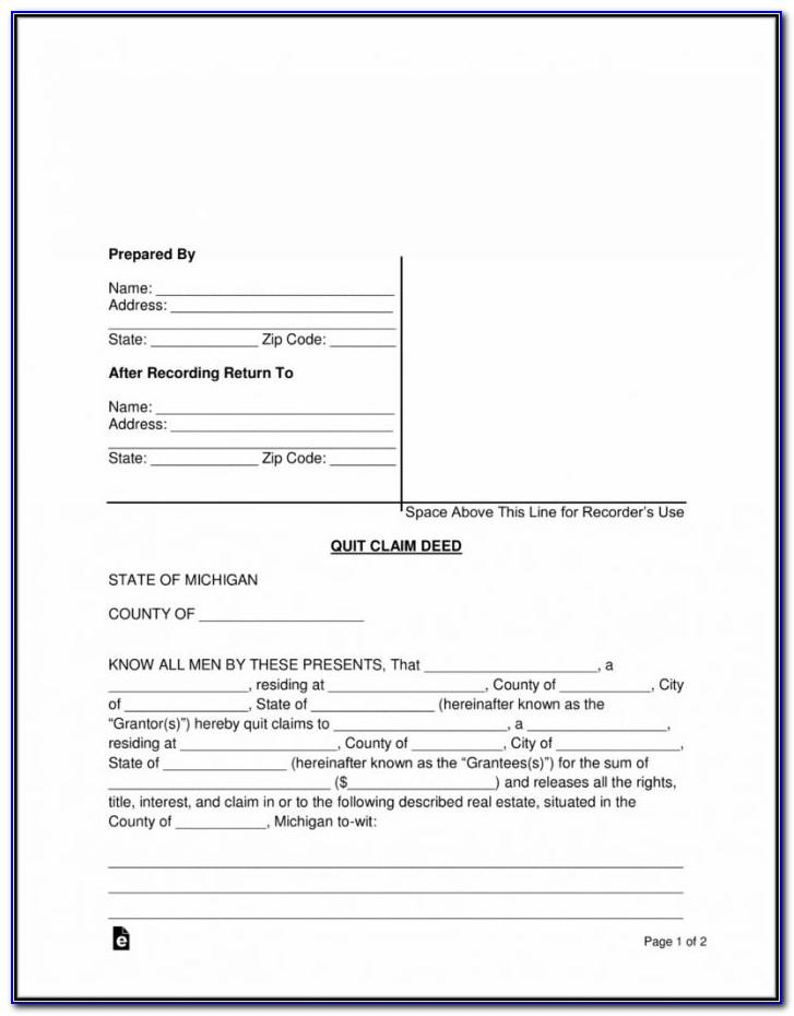 Quit Claim Deed Form West Virginia