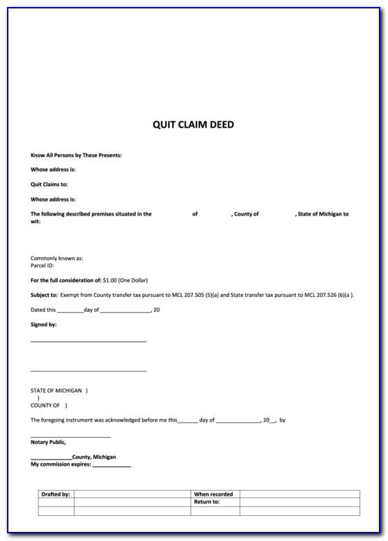 Quit Claim Deed Template Missouri