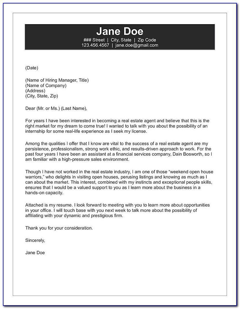Real Estate Agent Letter Samples