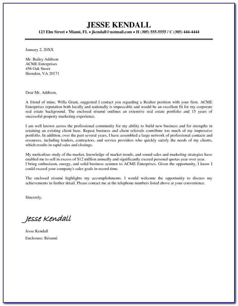 Real Estate Expired Listing Letter Template