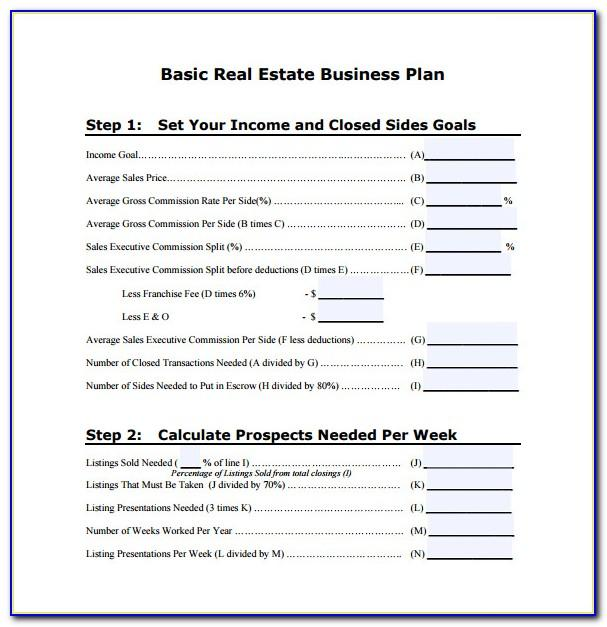 Real Estate Investment Business Plan Template Word