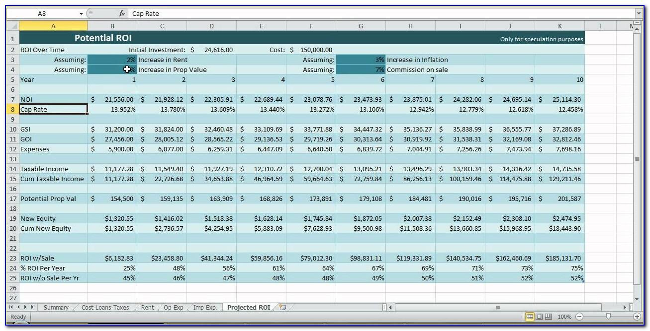 Real Estate Investment Template Excel