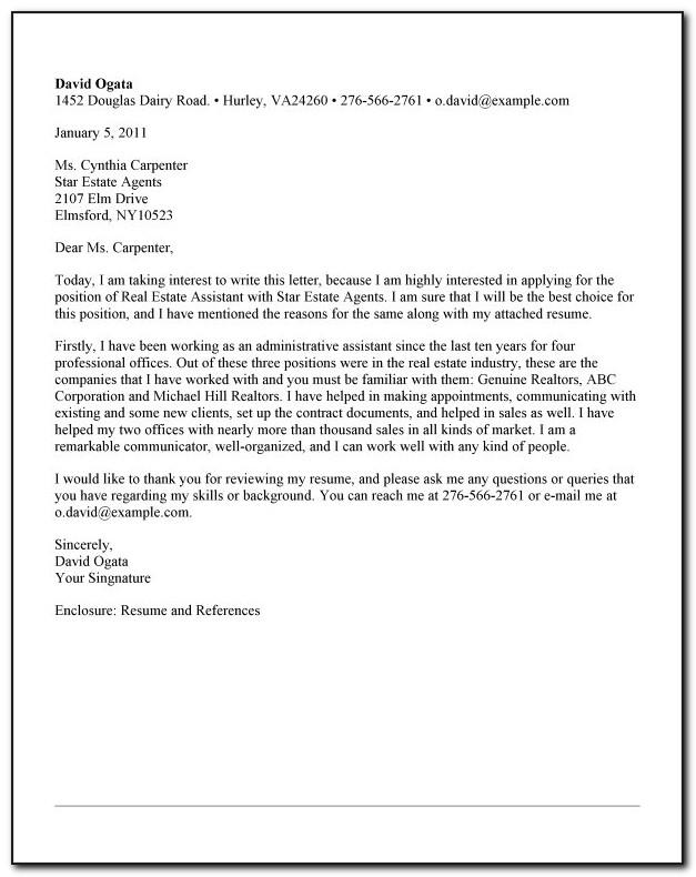 Real Estate Letter Examples