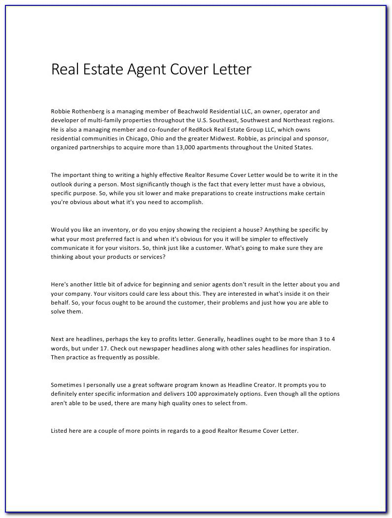 Real Estate Letterhead Examples