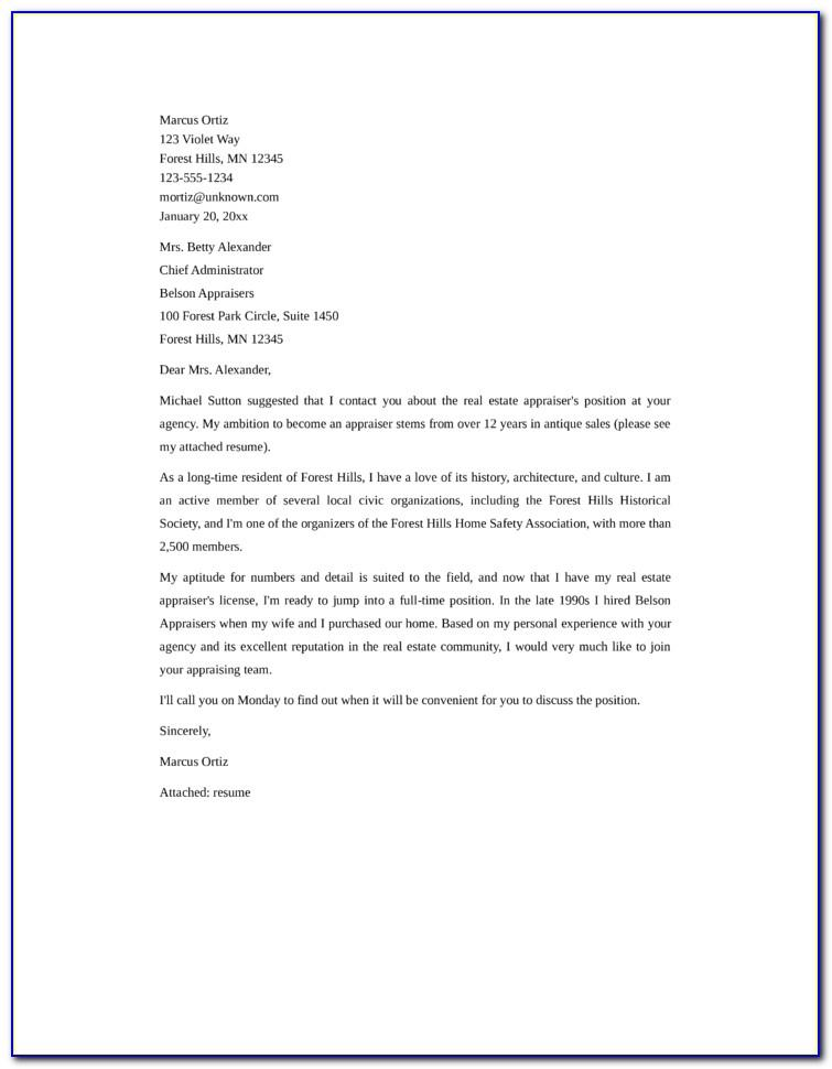 Real Estate Letterhead Format