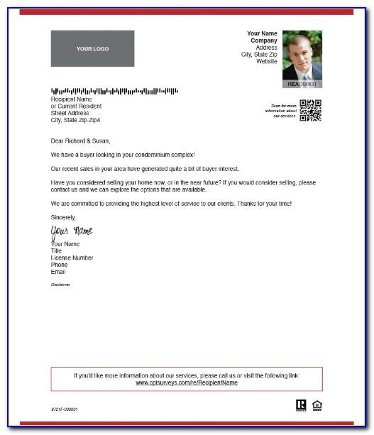 Real Estate Listing Letter Template