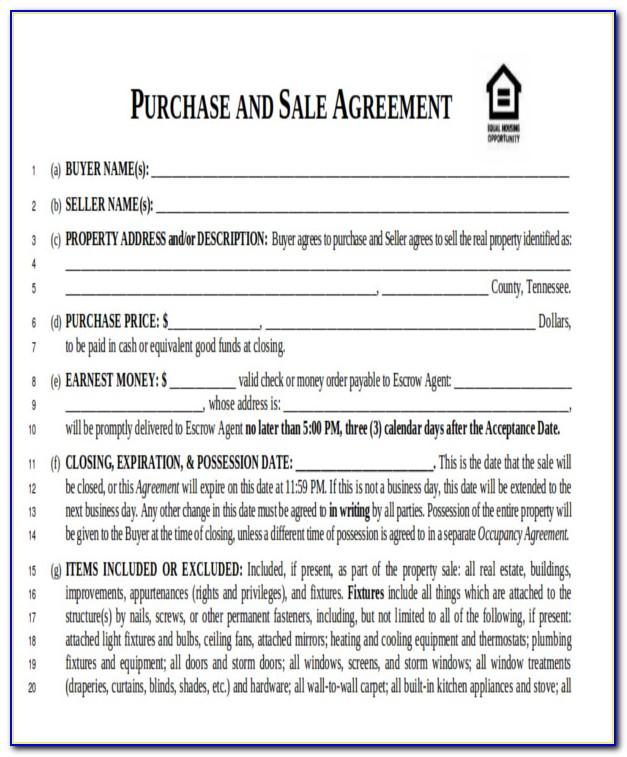 Real Estate Purchase Agreement Michigan