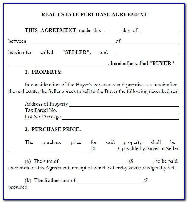 Real Estate Purchase Offer Agreement