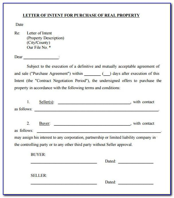Real Estate Purchase Offer Letter Template