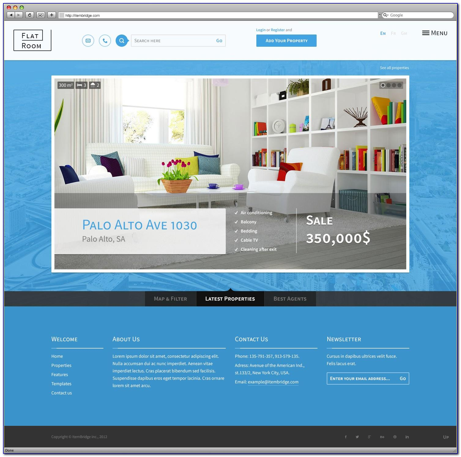 Real Estate Responsive Template Free Download