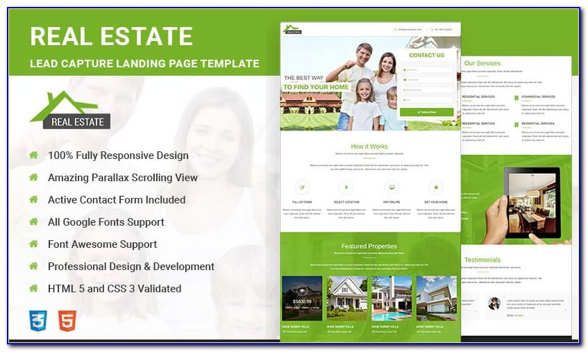 Real Estate Responsive Website Template Free Download