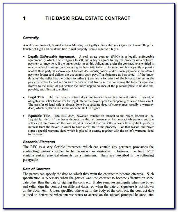 Real Estate Sale Contract Template Free