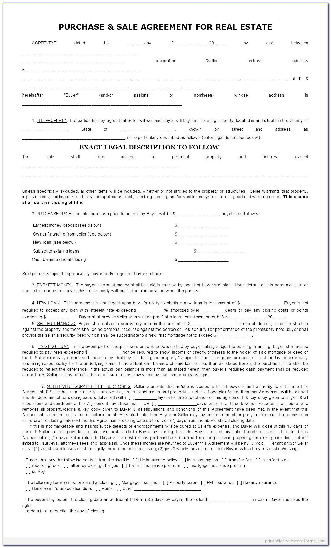 Real Estate Sales Contract Form Queensland