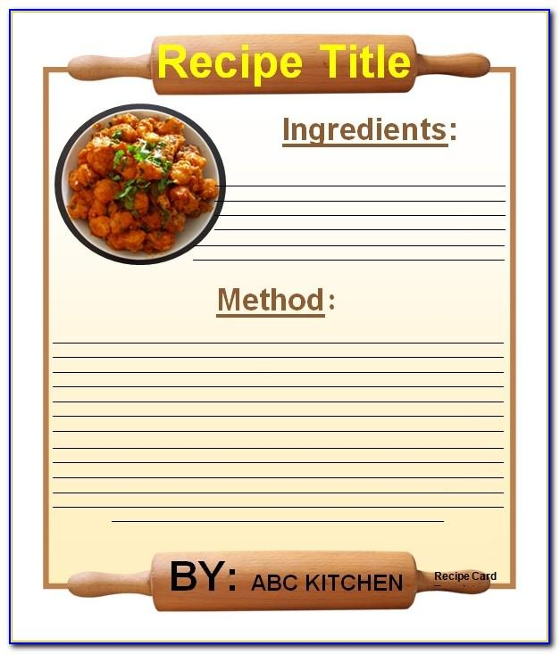 Recipe Book Template For Mac