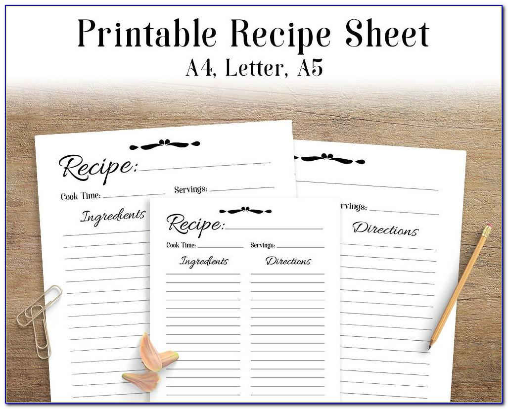 Recipe Book Template For Pages Mac