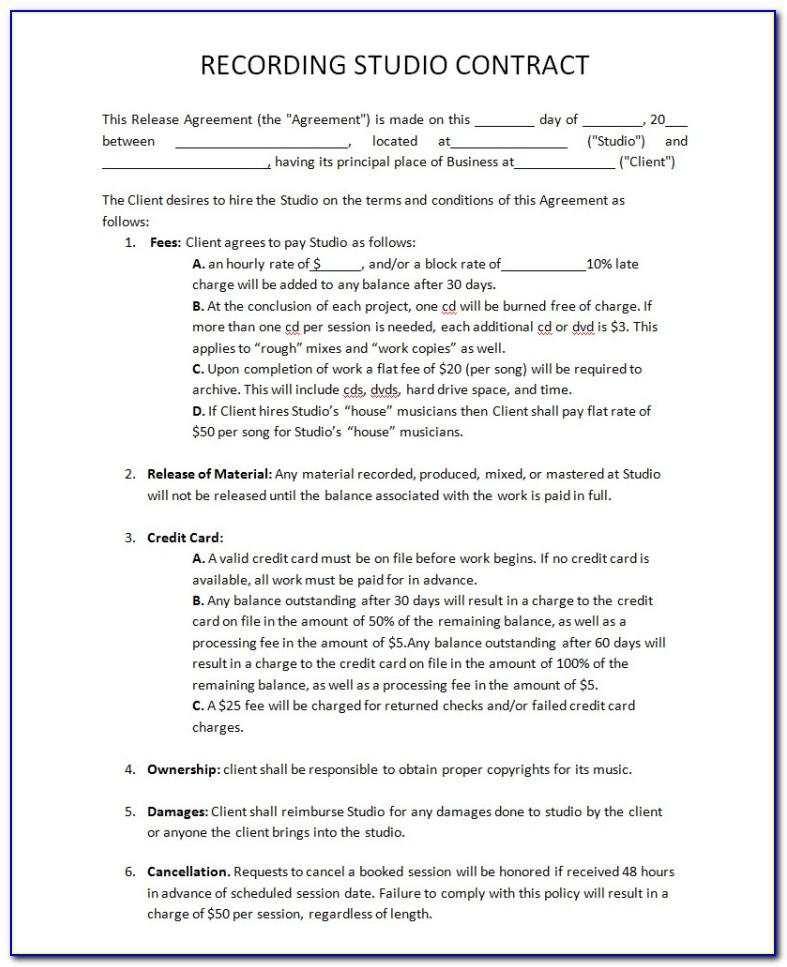 Record Label Agreement Form
