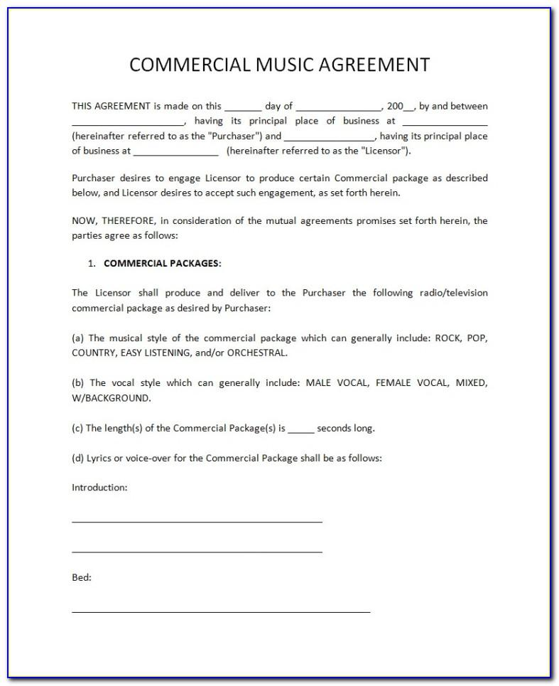 Record Label Contract Form