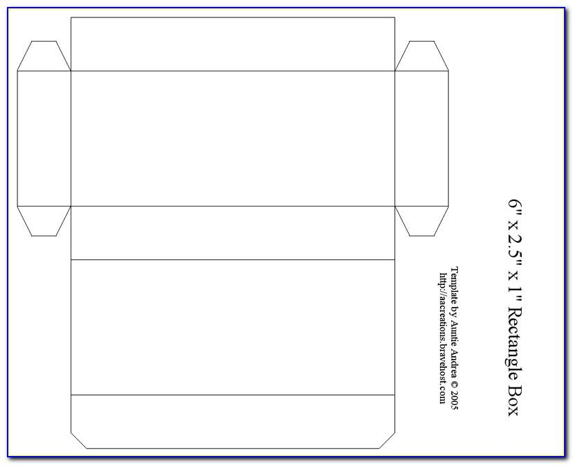 Rectangular Gift Box Template