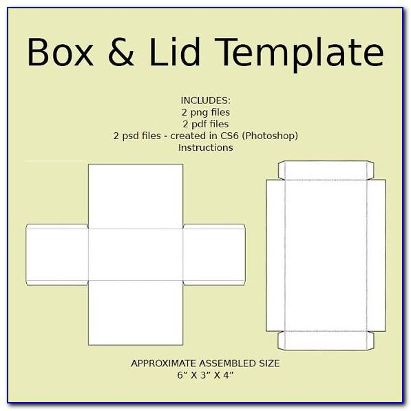 Rectangular Gift Box With Lid Template