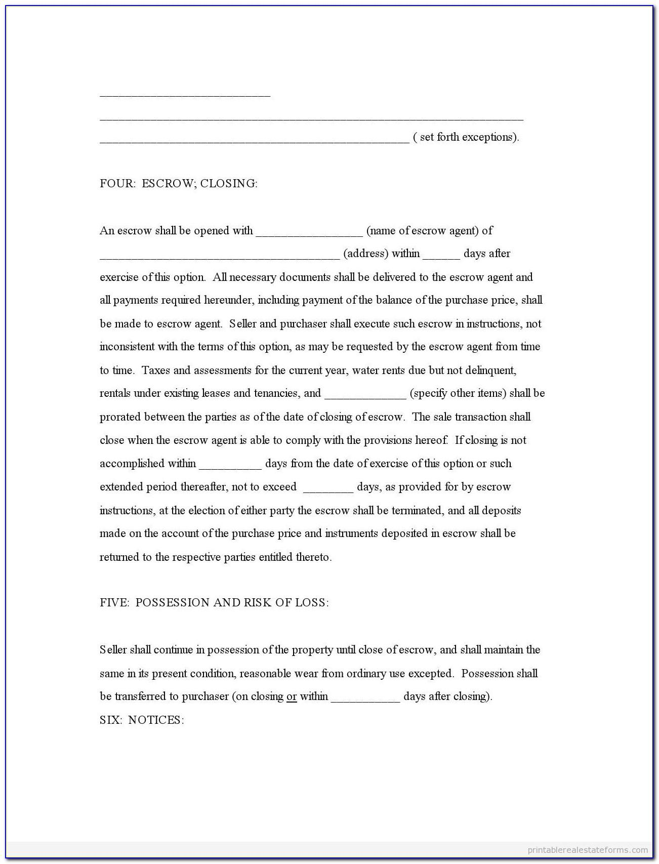 Referral Agreement Form Real Estate