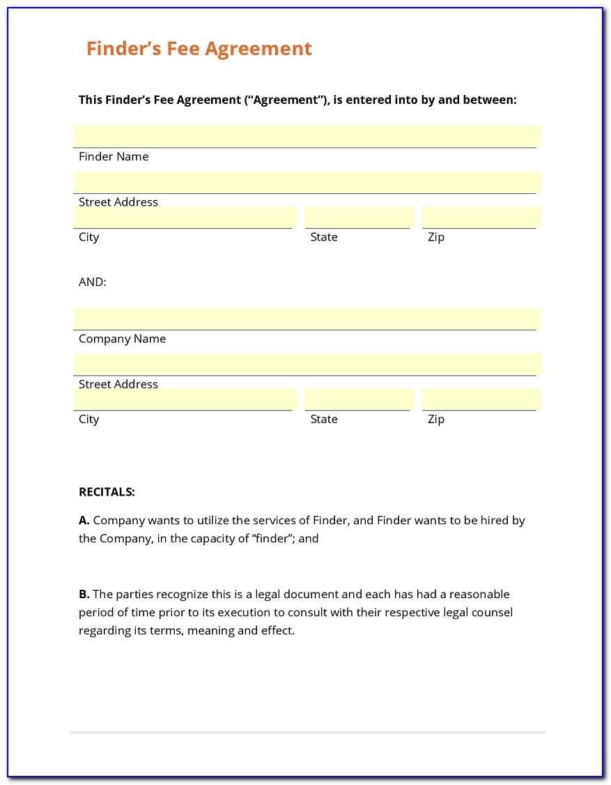 Referral Fee Agreement Form