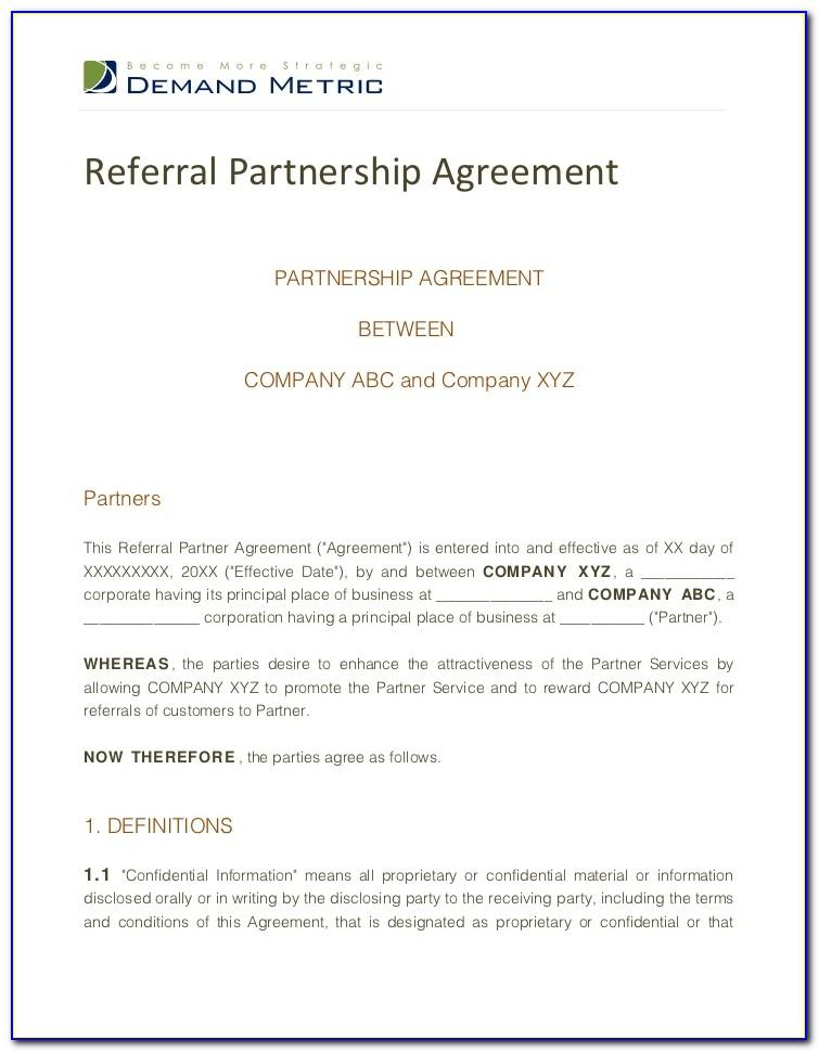 Referral Fee Agreement Template Free