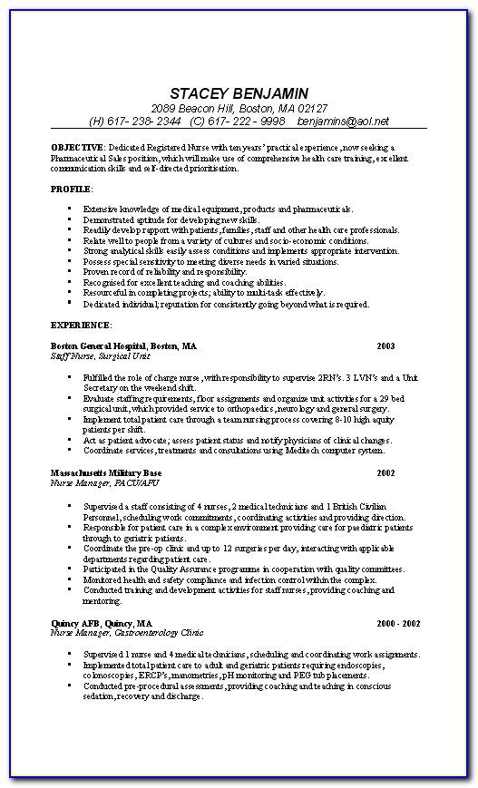 Registered Nurse Cv Template Australia