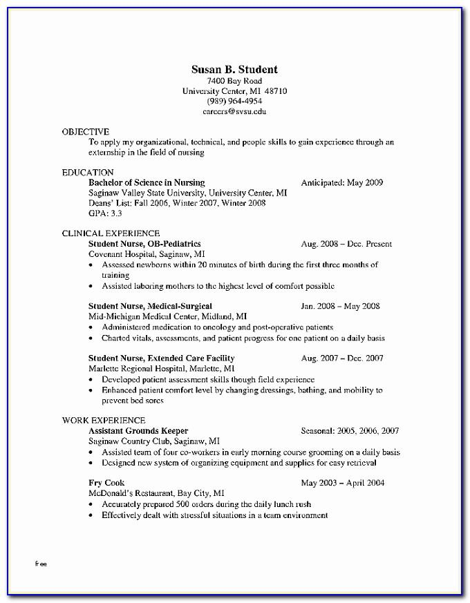 Registered Nurse Resume Sample Canada