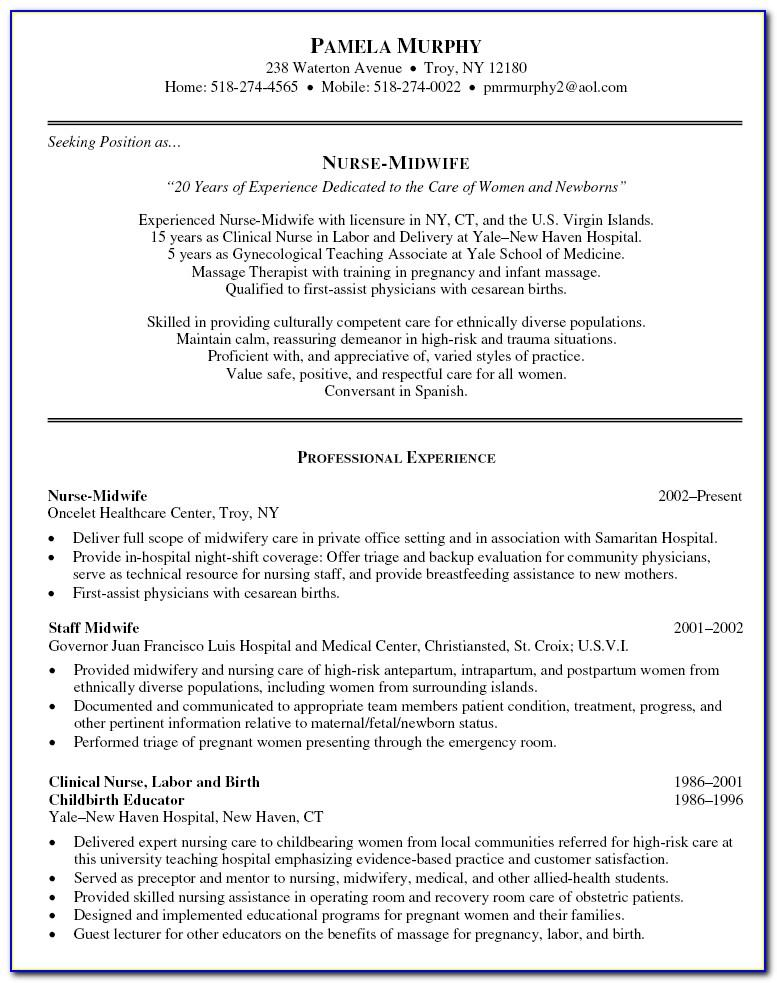 Registered Nurse Resume Samples Free