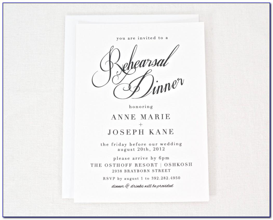 Rehearsal Dinner Invite Template