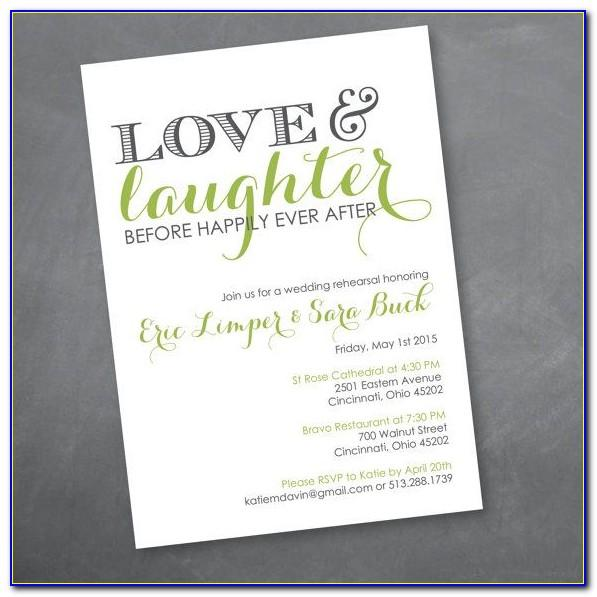 Rehearsal Dinner Invite Wording Samples
