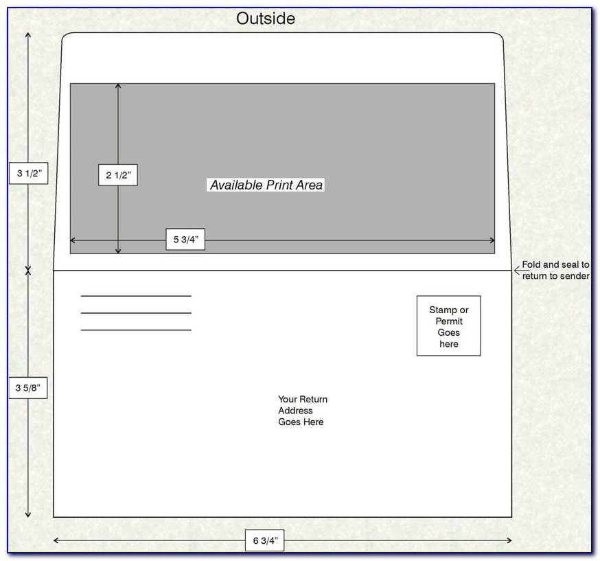 Remittance Envelope Template 6 34