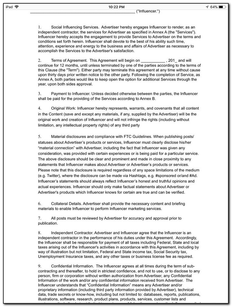 Renewal Rental Agreement Form